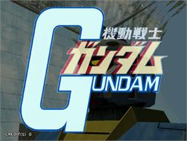 Title screen of Mobile Suit Gundam: Federation VS Zeon on the Sega Naomi.