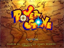 Title screen of Power Stone on the Sega Naomi.