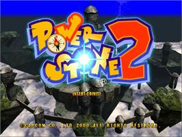 Title screen of Power Stone 2 on the Sega Naomi.