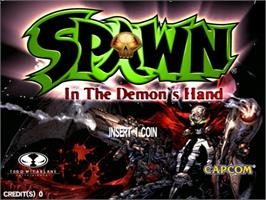 Title screen of Spawn: In the Demon's Hand on the Sega Naomi.