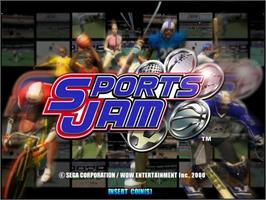 Title screen of Sports Jam on the Sega Naomi.