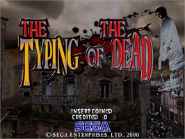 Title screen of Typing of the Dead, The on the Sega Naomi.