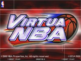 Title screen of Virtua NBA on the Sega Naomi.