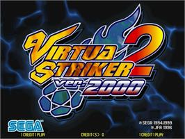 Title screen of Virtua Striker 2 Ver. 2000 on the Sega Naomi.