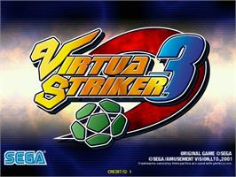 Title screen of Virtua Striker 3 on the Sega Naomi.