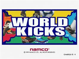 Title screen of World Kicks on the Sega Naomi.