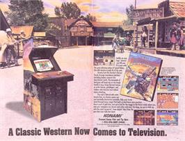 Advert for Sunset Riders on the Sega Nomad.