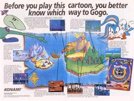 Advert for Tiny Toon Adventures: Buster's Hidden Treasure on the Sega Nomad.