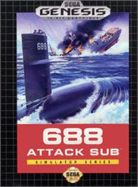 Box cover for 688 Attack Sub on the Sega Nomad.