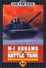 Box cover for Abrams Battle Tank on the Sega Nomad.