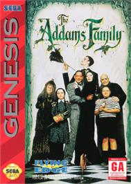 Box cover for Addams Family, The on the Sega Nomad.