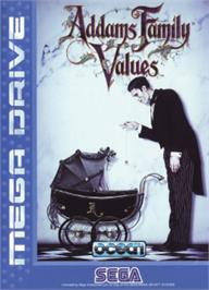 Box cover for Addams Family Values on the Sega Nomad.