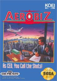 Box cover for Aerobiz on the Sega Nomad.