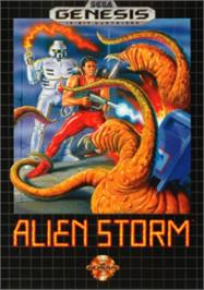 Box cover for Alien Storm on the Sega Nomad.