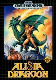 Box cover for Alisia Dragoon on the Sega Nomad.