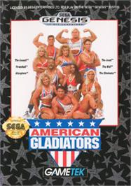 Box cover for American Gladiators on the Sega Nomad.