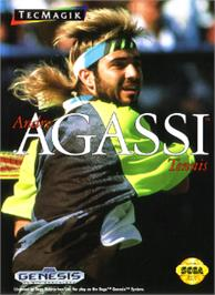 Box cover for Andre Agassi Tennis on the Sega Nomad.
