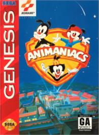 Box cover for Animaniacs on the Sega Nomad.