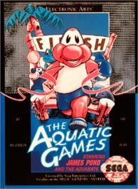Box cover for Aquatic Games: Starring James Pond, The on the Sega Nomad.