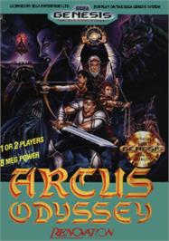 Box cover for Arcus Odyssey on the Sega Nomad.