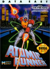 Box cover for Atomic Runner on the Sega Nomad.