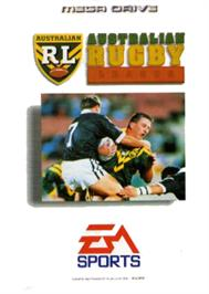 Box cover for Australian Rugby League on the Sega Nomad.