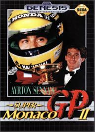 Box cover for Ayrton Senna's Super Monaco GP 2 on the Sega Nomad.