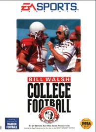Box cover for Bill Walsh College Football on the Sega Nomad.
