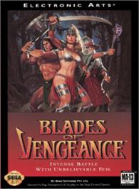 Box cover for Blades of Vengeance on the Sega Nomad.