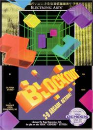 Box cover for Blockout on the Sega Nomad.