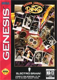Box cover for Boxing Legends of the Ring on the Sega Nomad.
