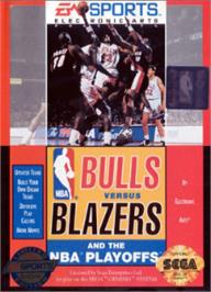 Box cover for Bulls vs. Blazers and the NBA Playoffs on the Sega Nomad.