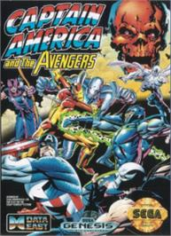 Box cover for Captain America and The Avengers on the Sega Nomad.