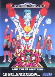 Box cover for Captain Planet and the Planeteers on the Sega Nomad.
