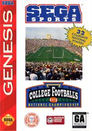 Box cover for College Football's National Championship on the Sega Nomad.