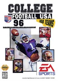 Box cover for College Football USA 96 on the Sega Nomad.