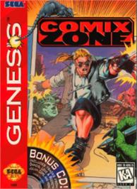 Box cover for Comix Zone on the Sega Nomad.