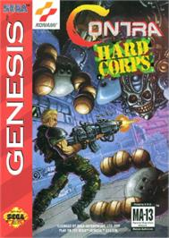 Box cover for Contra Hard Corps on the Sega Nomad.