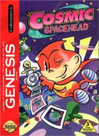 Box cover for Cosmic Spacehead on the Sega Nomad.