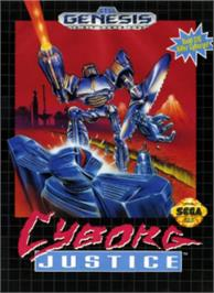 Box cover for Cyborg Justice on the Sega Nomad.