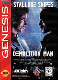 Box cover for Demolition Man on the Sega Nomad.
