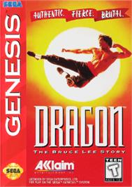 Box cover for Dragon: The Bruce Lee Story on the Sega Nomad.