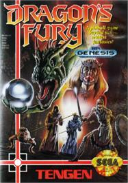Box cover for Dragon's Fury on the Sega Nomad.