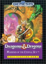 Box cover for Dungeons & Dragons: Warriors of the Eternal Sun on the Sega Nomad.