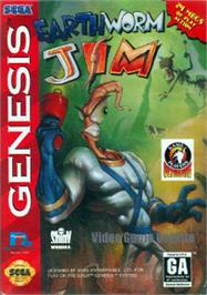Box cover for Earthworm Jim on the Sega Nomad.