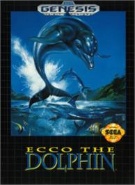 Box cover for Ecco the Dolphin on the Sega Nomad.