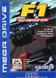 Box cover for F1 World Championship Edition on the Sega Nomad.