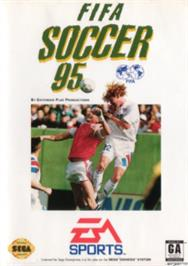 Box cover for FIFA 95 on the Sega Nomad.