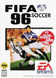 Box cover for FIFA 96 on the Sega Nomad.