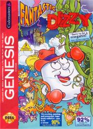 Box cover for Fantastic Adventures of Dizzy, The on the Sega Nomad.